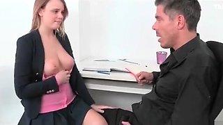 secretary doing sex for promotion