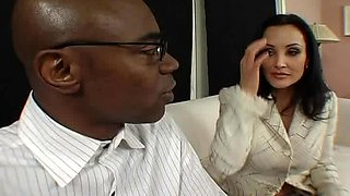 Gorgeous wife Lisa Ann has a great time with her black lover