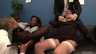 Ebony sluts give their huge butts for a hard drilling