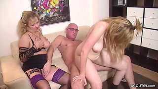 German Step-Mom Teach Daughter to Fuck With Boyfriend