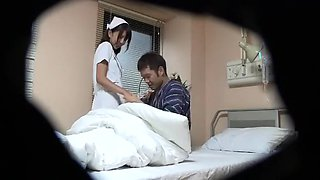 Crazy Japanese girl Kana Sugiura, Yuki Hana, Reira Kousaka in Horny Nurse, Blowjob JAV clip