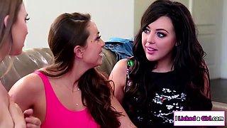 Slut babysitter seduces her lesbian boss