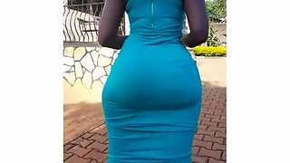 Big ass african in sundress (slow motion)