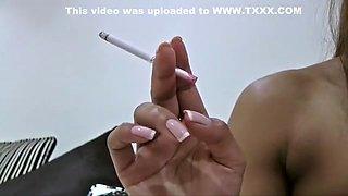 Fabulous homemade Smoking, Fetish xxx video