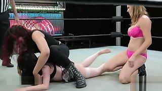 Unfair 2 on 1 wrestling