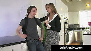 Busty Blonde Milf Julia Ann Pegs Her BoyToy As Payback!