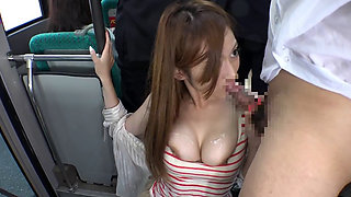 Fuck In The Bus With Busty Japanese
