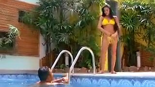 Latin Whore Fucked By The Pool