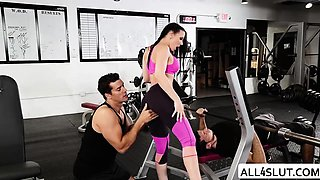 Rachel gets fucked by Ramon in the gym