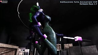 3d busty animated alien slut sex
