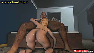 Hardcore action for big tits and big ass 3D heroes