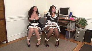 2 maids gagged