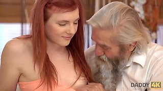 DADDY4K. Dirty boy fingers GF for cheating on him with horny daddy