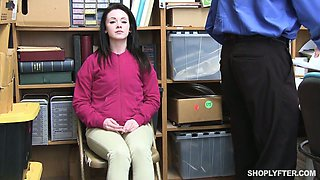 Pretty hot teen Athena Rayne is punished for shoplifting