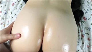 Stepbrother fucks stepsister's wet pussy hard while she is in bed