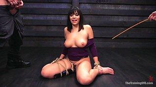 Big Tits, Tight Dress, High Heels: New Slave Training Violet Starr - TheTrainingofO