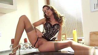 Foxy Czech Sweetie Opens Up Her Narrow Vulva To The Unusual