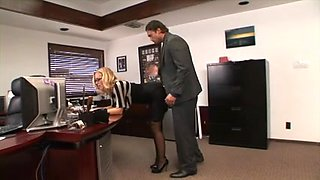 Hawt secretary spanked and screwed at office