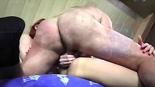 Horny Sisters Seduce and Fuck their Step Dad share cum