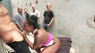 Black cunt gets degraded, humiliated, used and abused part2