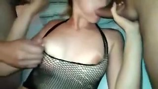 Sexy Housewife In Lingerie Gets Used And Abused By Three Ho
