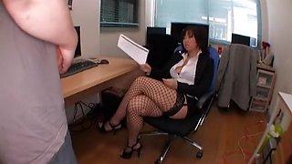 Horny Japanese model Neiro Suzuka in Exotic Stockings, Striptease JAV scene