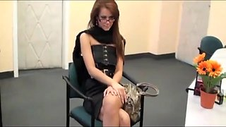 Hot secretary gets amazing anal creampie from her boss