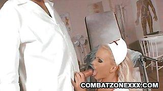 Nurse Kathy Anderson sucking cock
