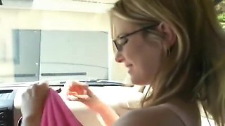 MILF BLOWJOB IN A CAR