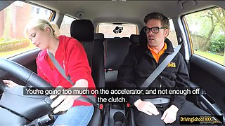 Misha MayFair gets twat banged by instructor in FDS car