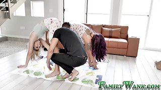 Young step sister chanel grey facialized after making love