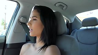 Cute Innocent Teen Bangs Stranger In Car