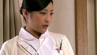 Japanese Nurse Doing Sex Therapy In Front Of Patient' Wife