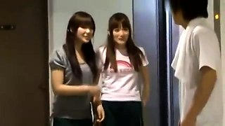 Threesome with asian teen schoolgirl