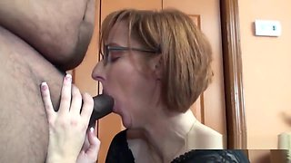 Seductive housewife layla redd is blowing a dude she just met