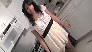 Teen Brunette Filling Glasses With Piss Becomes A Whore