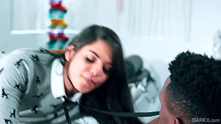 Tantalizing Brazilian chick Gina Valentina hooks up with her black step brother