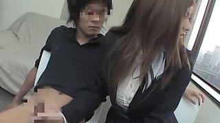 Incredible Japanese whore in Horny Office, Blowjob JAV scene