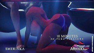 Scifi futa girls animation with sex toys