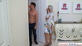 Tattooed sassy mommy Nina Elle is screwing her handsome stepson