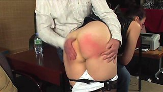 Naughty Maid Spanked
