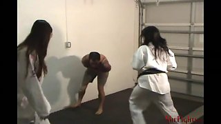 brutal and sadistic double gi beatdown with cindy & mikaela