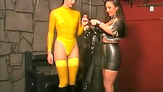 Mistresses are nice to their slaves and let them play outside