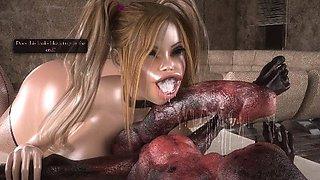 3D Girls Fucked by Freak Creatures!