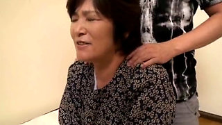 JAV Grandma Kouzai Yukari sucks and fucks