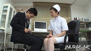 Nurse with lines deals shlong in supreme xxx porn