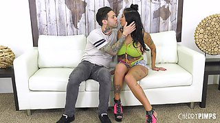 Giant-breasted babe covered with tattoos Stacy Jay gets fucked