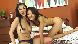 Ayumi Anime and Jade Kush hook up for an amazing lesbian sex game