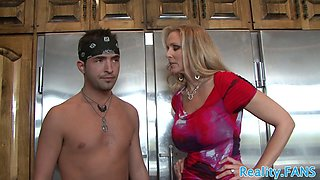 Real milf fucked hard in the kitchen
