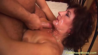 hairy big natural breast mom gets brutal rough fucked by her big cock boyfriend